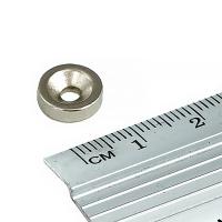 Неодимовый магнит, шайба, 10x3x3
