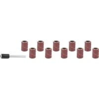 Цилиндр STAYER шлифовальный абразивный, с оправкой, d 6,25мм, Р80/120, 10шт, ( 29919-H10 )