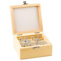 Набор ЗУБР 33385-H10 Мини-круги с алмазным напылением на шпильке, 10 предметов