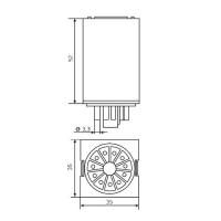 Реле промежуточное MK3P-1, 10А, 3 перек. контакта, 24V