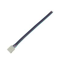 Коннектор для светодиодной ленты RGB (№2) 4 контакта, 10 мм, с кабелем