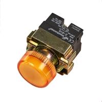Лампа индикаторная,сигнальная  XB2-BV65 220V, D 22мм (желтая)