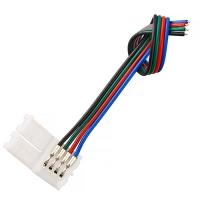 Коннектор для светодиодной ленты RGB (№2) 4 контакта, 8 мм, с кабелем