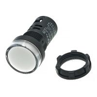 Лампа индикаторная 220V, Ø22 мм. (белая)
