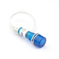 Лампа индикаторная 220V, D 10мм, с проводом (синяя, красная, зелёная, желтая)