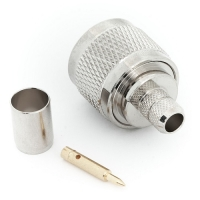 Разъём N-коннектор M (папа) обжим, кабель RG-6U (№01)