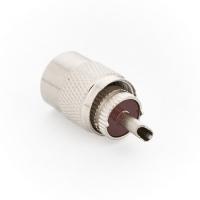 Разъём UHF-M PL-259 (папа) кабель RG-58/RG-59, под пайку (№09)