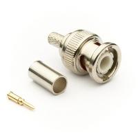 Разъём BNC M (папа) обжим, кабель RG-58/RG-59 (№2)