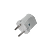 Вилка  электрическая 6A/220V, белая, STAYER MAXelectro 55150-W