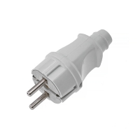 Вилка  электрическая 16A/220V, белая, с заземлением STAYER MAXelectro 55160-W