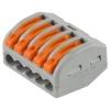 Клемма СВЕТОЗАР 49190-5 соединительная, разъемная, 5 проводная, 400В, 32А, 0,5-2,5мм2/0,5-4мм2, 2шт