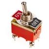 Тумблер E-TEN 1221 (Т-1) ON-OFF, 250V AC, 15A, 4 контакта, DPST 30х15х20 мм.