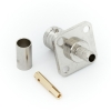 Разъём BNC F (мама) обжим, на корпус, кабель RG-58/RG-59 (№73)