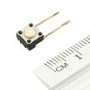 Кнопка тактовая (№6) 6х6мм. 0.05А, 12В (микрик, микропереключатель)