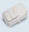 Розетка с защитной крышкой + выключатель двухклавишный (18351)