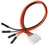 Коннектор JST (№13) 4 контакта, с кабелем