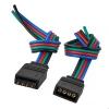 Коннектор для светодиодной ленты RGB (№4) 4 контакта, 10 мм, с кабелем, male/female