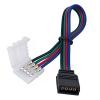 Коннектор для светодиодной ленты RGB (№8) 4 контакта, 10 мм, с кабелем, female