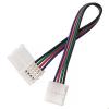 Коннектор для светодиодной ленты RGB (№9) 4 контакта, 10 мм, с кабелем