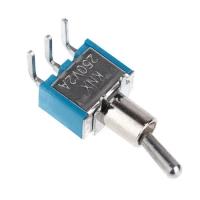 Тумблер (Т-14) ON-ON, 250V AC, 2A, 3 контакта, SPDT 12х10х6 мм.