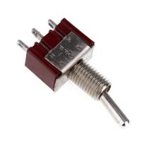Тумблер (Т-20) ON-OFF-ON, 250V AC, 3A, 3 контакта, SPDT 12х10х7 мм.