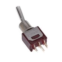 Тумблер (Т-5) ON-OFF-ON, 250V AC, 1.5A, 3 контакта, SPDT 10х7х5 мм.